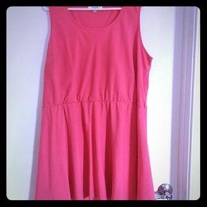Flowy Coral Dress